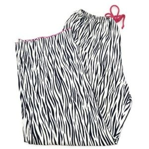 Josie Natori Silk-like Zebra Print PJ Lounge Pants